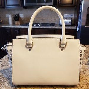 50dc038c9478 MICHAEL Michael Kors Bags - Michael Kors Selma Grommet MD Satchel Optic  White